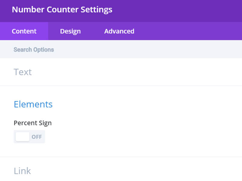 Change or Remove Percentage Sign in Divi Number Count Module 1
